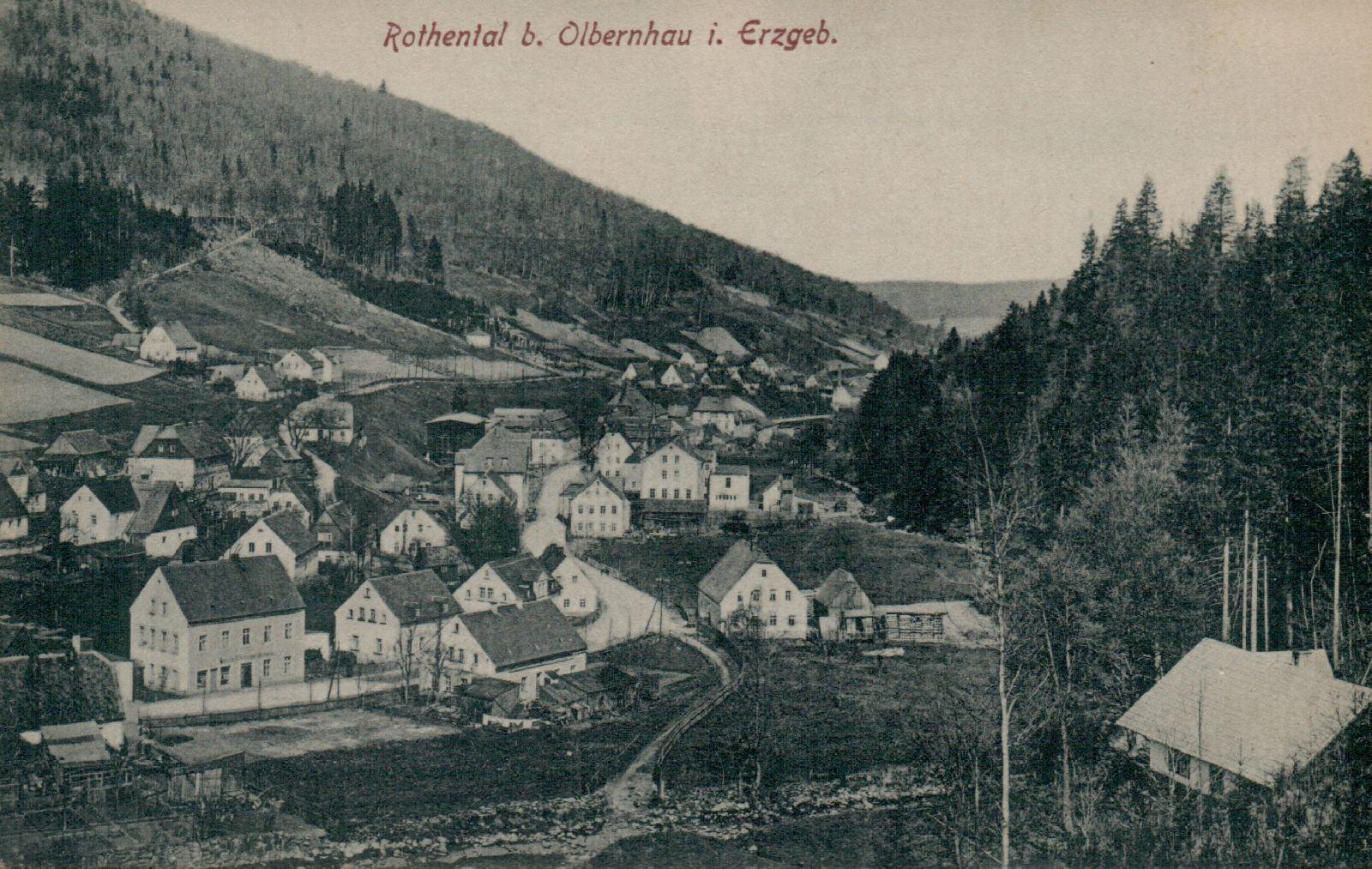 Rothenthal bei Olbernhau im Erzgebirge