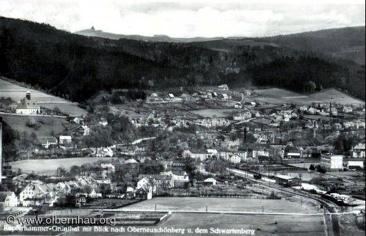 Grünthal mit Oberneuschönberg um 1930