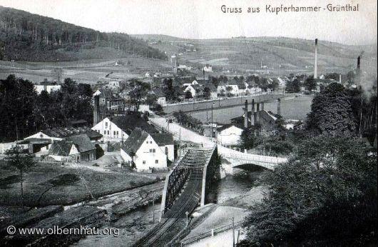Eisenbahnbrücke in Grünthal um 1925
