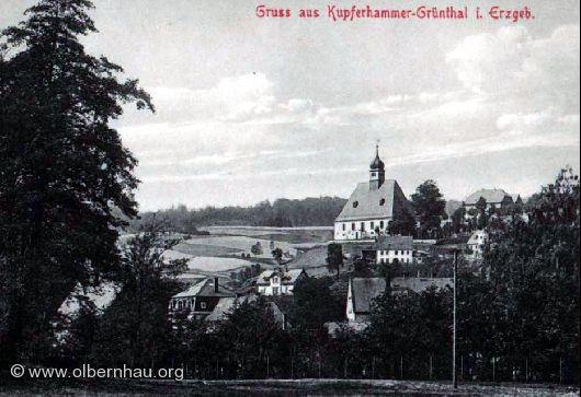 Blick von Böhmisch-Grünthal um 1925