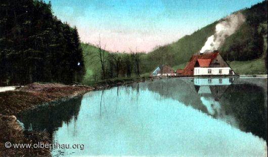 Töltschteich mit Drehwerk (brannte 1912 ab)